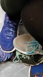 Hannah wanted a picture of her shoe